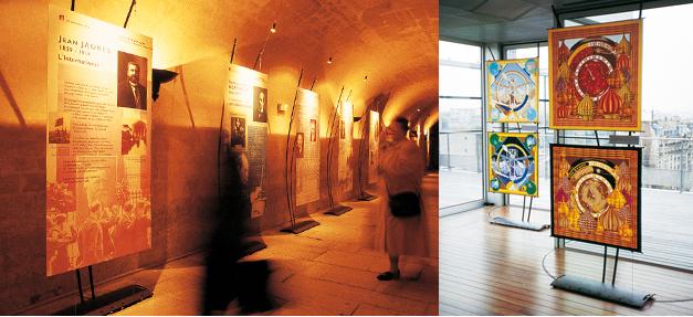 Photos des expositions Panthéon et Fondation Cartier